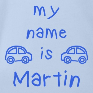 MARTIN MY NAME IS - Body bébé bio manches courtes