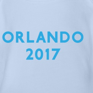 ORLANDO 2017 VACATION TEE - Organic Short-sleeved Baby Bodysuit