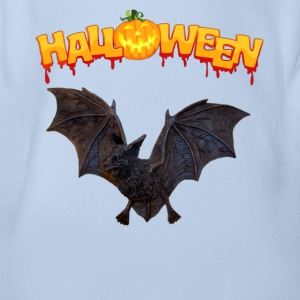 Fledermaus Halloween - Baby Bio-Kurzarm-Body