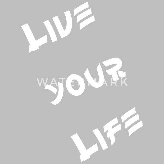 694bbec3 Lev livet ditt Økologisk kortermet babybody | Spreadshirt