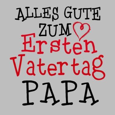 Alles Gute Zum Ersten Vatertag Papa Baby Bio Kurzarm Body Grau Meliert