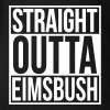 Straight Outta Eimsbush Rap Hip Hop Statement Hood - Baby Bio-Kurzarm-Body