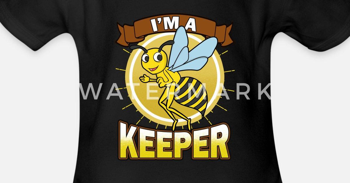 Imker Bin Ich Ein Imker Funny Bee Geschenk Baby Kurzarmbody