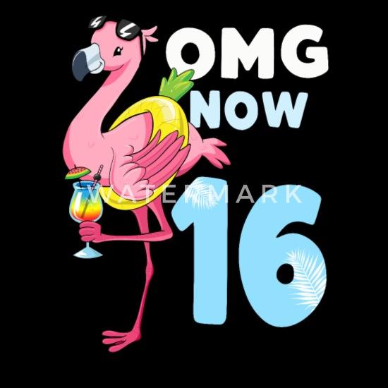 16 Jahre Flamingo Geschenk 16 Geburtstag Mädchen Baby Bio