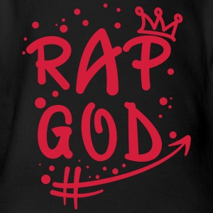 Rap God Grafitti - Organic Short-sleeved Baby Bodysuit