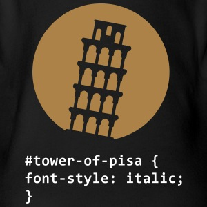 The Tower Of Pisa - Organic Short-sleeved Baby Bodysuit