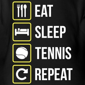 Eat Sleep Tennis Repeat - Body ecologico per neonato a manica corta