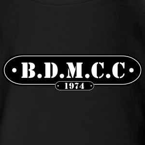 BDMCC Bar Badge - Organic Short-sleeved Baby Bodysuit