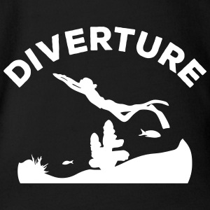 DIVERTURE Freediving Reef - Organic Short-sleeved Baby Bodysuit