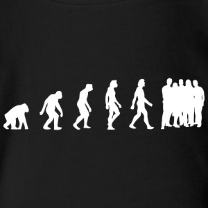 The Evolution Of Overpopulation - Organic Short-sleeved Baby Bodysuit