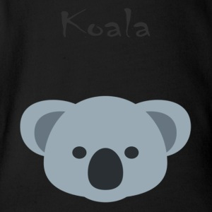 Koala bear - Organic Short-sleeved Baby Bodysuit