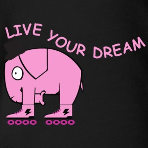 Live your dream elephant - Baby Bio-Kurzarm-Body