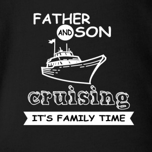 Father And Son - Cruising - Organic Short-sleeved Baby Bodysuit