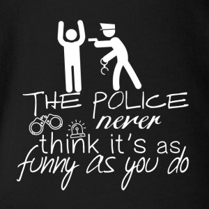 The police do not look so funny - Police - Organic Short-sleeved Baby Bodysuit
