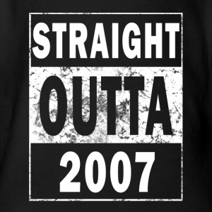 2007 - Straight outta - 10 years - BDAY - Organic Short-sleeved Baby Bodysuit