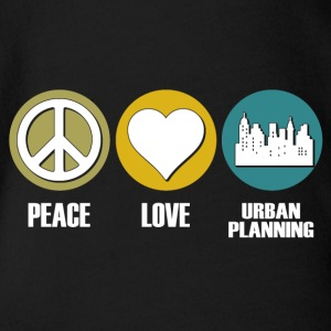 peace love urban planning - Baby Bio-Kurzarm-Body