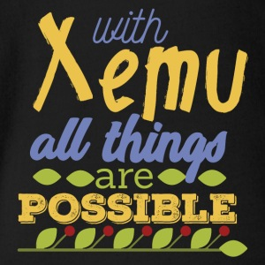 With Xemu All Things are Possible - Organic Short-sleeved Baby Bodysuit