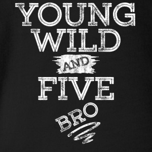 YOUNG WILD AND FIVE T-SHIRT - Baby Bio-Kurzarm-Body