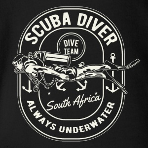 Scuba Diver Team South Africa Diving Shirt - Organic Short-sleeved Baby Bodysuit