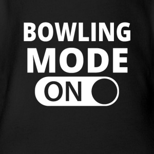MODE ON BOWLING - Baby Bio-Kurzarm-Body