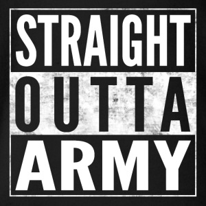 STRAIGHT OUTTA ARMY Bundeswehr lustiges Shirt - Baby Bio-Kurzarm-Body