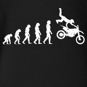 Evolution Motocross Motorcross Stunt cool shirt - Organic Short-sleeved Baby Bodysuit