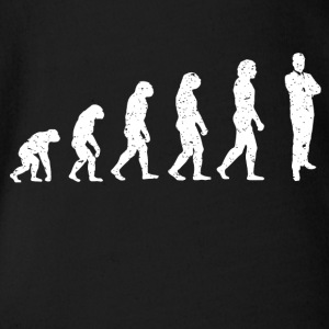 Evolution Geschäftsmann Business Chef Shirt - Baby Bio-Kurzarm-Body