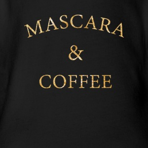 Mascara and coffee beautician cosmetics gift - Organic Short-sleeved Baby Bodysuit