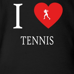 I Love TENNIS - Baby Bio-Kurzarm-Body