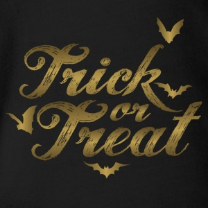 Trick or Treat Halloween America Trick or Treat - Organic Short-sleeved Baby Bodysuit