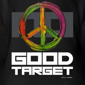NO - GOOD TARGET is PEACE - Organic Short-sleeved Baby Bodysuit