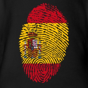 Fingerprint i love SPAIN Spain espanol - Organic Short-sleeved Baby Bodysuit