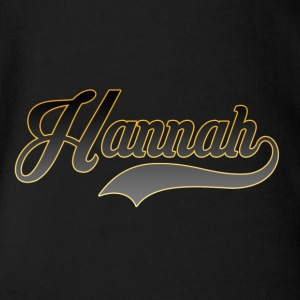 First name Hannah - Organic Short-sleeved Baby Bodysuit