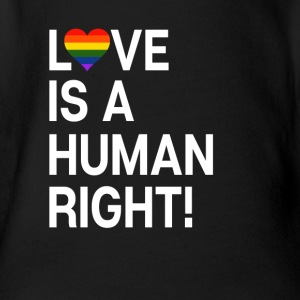 Love is a human right! LGBT heart gift - Organic Short-sleeved Baby Bodysuit