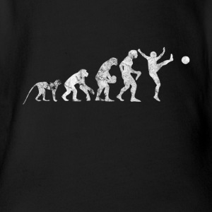Evolution football shirt gift kick kicker - Organic Short-sleeved Baby Bodysuit