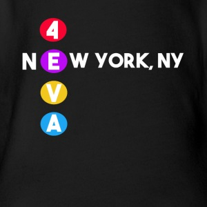 NEW YORK T Shirt Subway New York Geschenk - Baby Bio-Kurzarm-Body