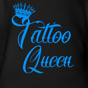 gift queen needle tattooed tattoo ink - Organic Short-sleeved Baby Bodysuit