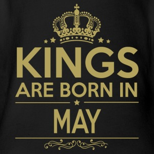 Kings are born in MAY - Organic Short-sleeved Baby Bodysuit
