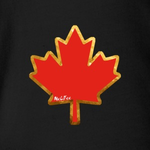 Canada - Organic Short-sleeved Baby Bodysuit