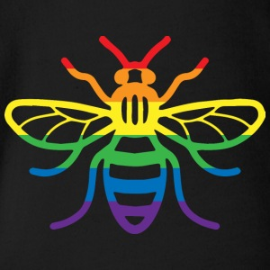 Gay Pride Bee - Organic Short-sleeved Baby Bodysuit