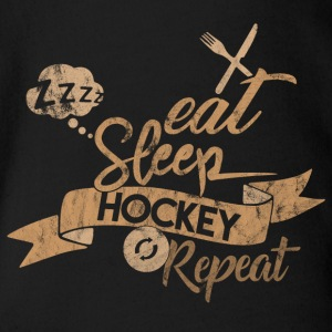 EAT SLEEP REPEAT HOCKEY - Body bébé bio manches courtes