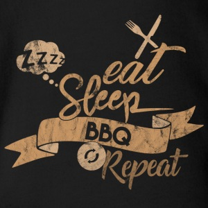 Eat Sleep BBQ GJENTA - Økologisk kortermet baby-body