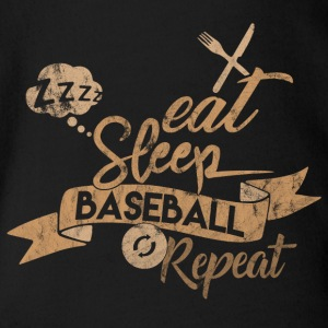 EAT SLEEP BASEBALL REPEAT - Body bébé bio manches courtes