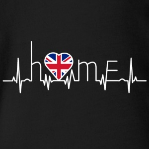 i love home homeland England - Organic Short-sleeved Baby Bodysuit