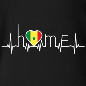 i love home homeland Senegal - Organic Short-sleeved Baby Bodysuit