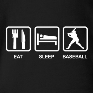 Eat Sleep Baseball - Body ecologico per neonato a manica corta