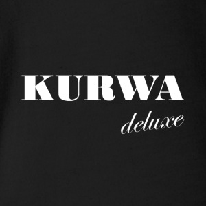 Kurwa Deluxe - Polish swear word gift - Organic Short-sleeved Baby Bodysuit
