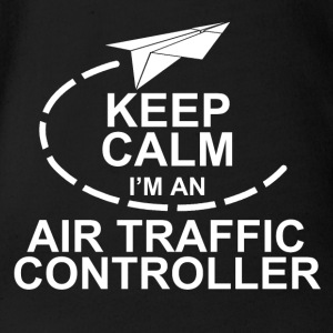 air traffic controller - Organic Short-sleeved Baby Bodysuit