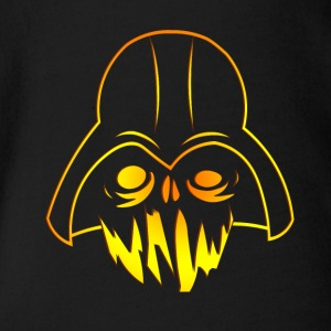 halloween kürbis design darth vader horror wars - Baby Bio-Kurzarm-Body