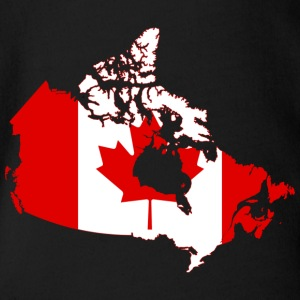 Map of Canada - Organic Short-sleeved Baby Bodysuit